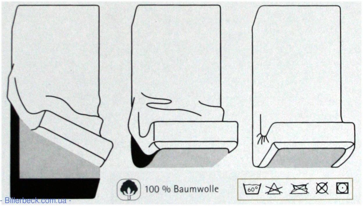 Трикотажная светло-серая простынь на резинке KAEPPEL (Германия) - 1