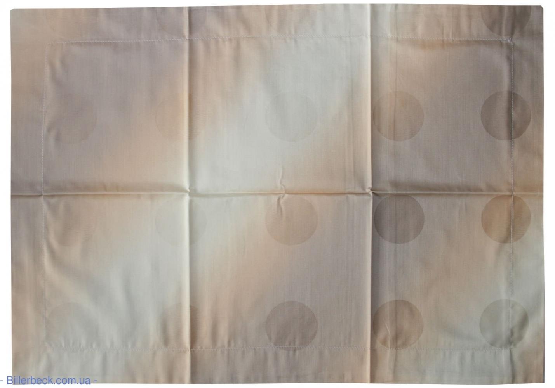 Наволочка мако-сатин Коричневые круги жаккард (Биллербек)