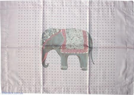 Наволочка мако-сатин Слон на розовом (Биллербек)