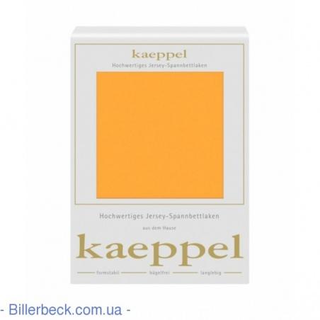 Трикотажная оранжевая простынь на резинке KAEPPEL (Германия)