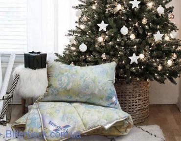 Комплект: Пуховое одеяло Виктория 155х215 К-2 + подушка пух Венеция 50х70