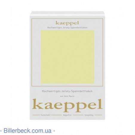 Трикотажная фисташковая простынь на резинке KAEPPEL (Германия)
