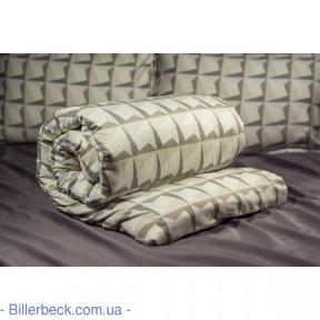 Двуспальный евро комплект Абстракция квадраты (Биллербек)